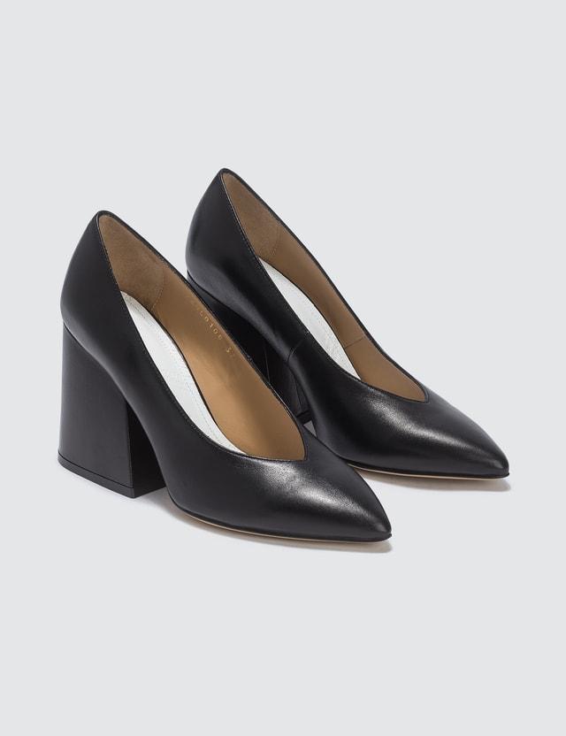 Maison Margiela Leather Block Heels Black Women