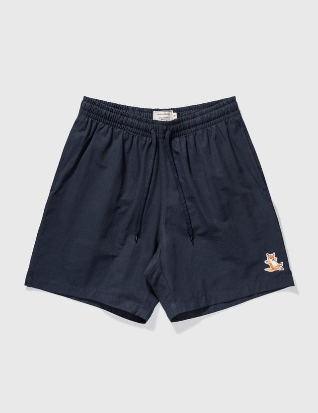 Maison Kitsune Chillax Fox Swim Shorts Navy Men