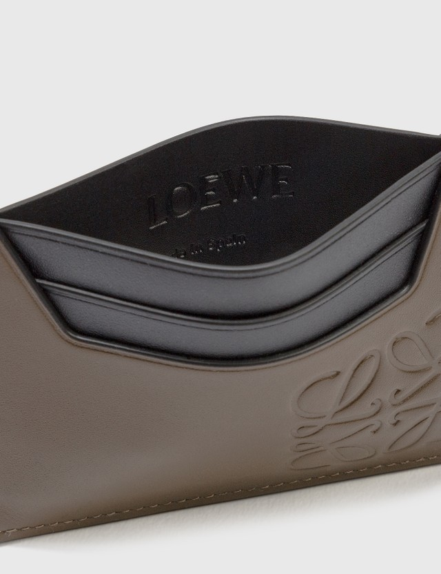 Loewe Brand Plain Cardholder Khaki Brown Men