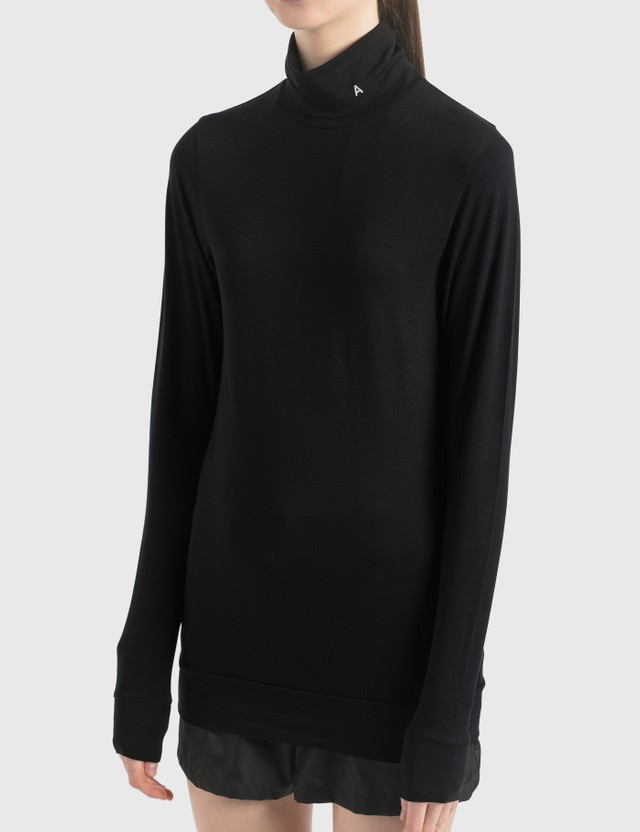 "Ambush ""A"" Turtle Neck Long Sleeve T-Shirt Black Women"