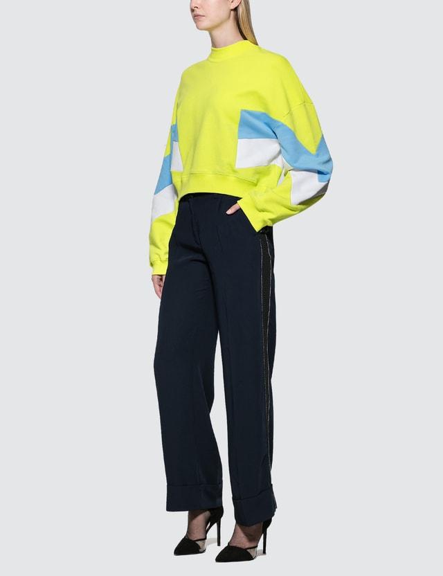 MSGM Sport Intarsia Sweatshirt
