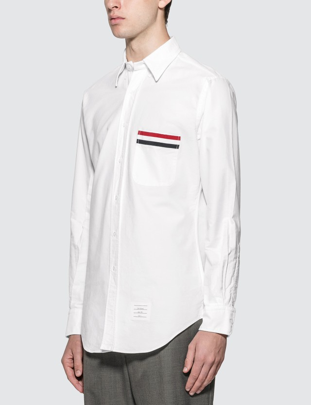 Thom Browne Grosgrain Pocket Trim Oxford Shirt