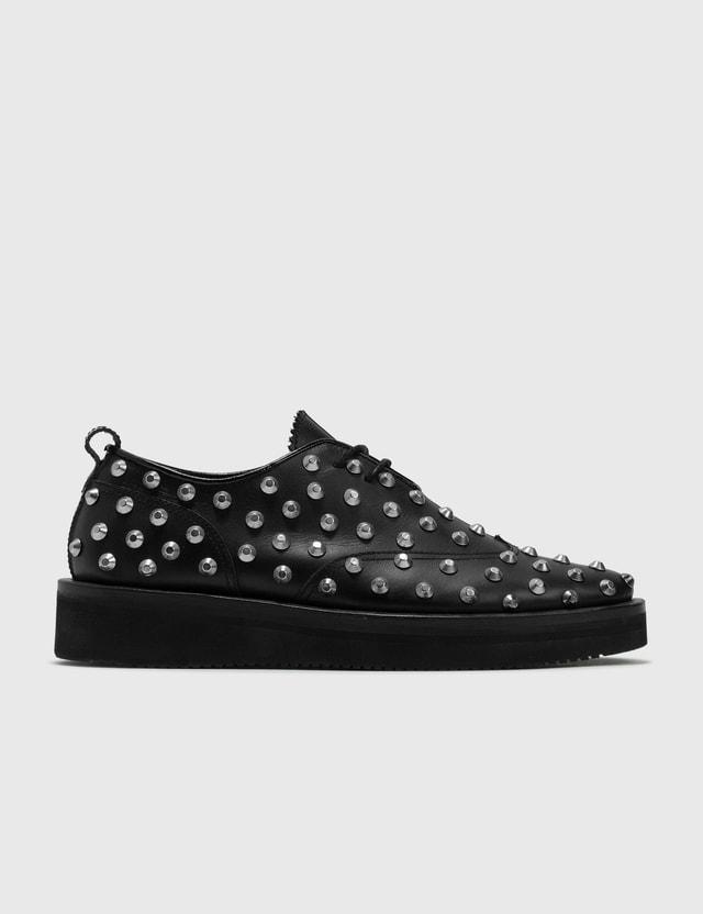 Kids Love Gaite Kids Love Gaite Black Studs Leather Shoe Black Archives