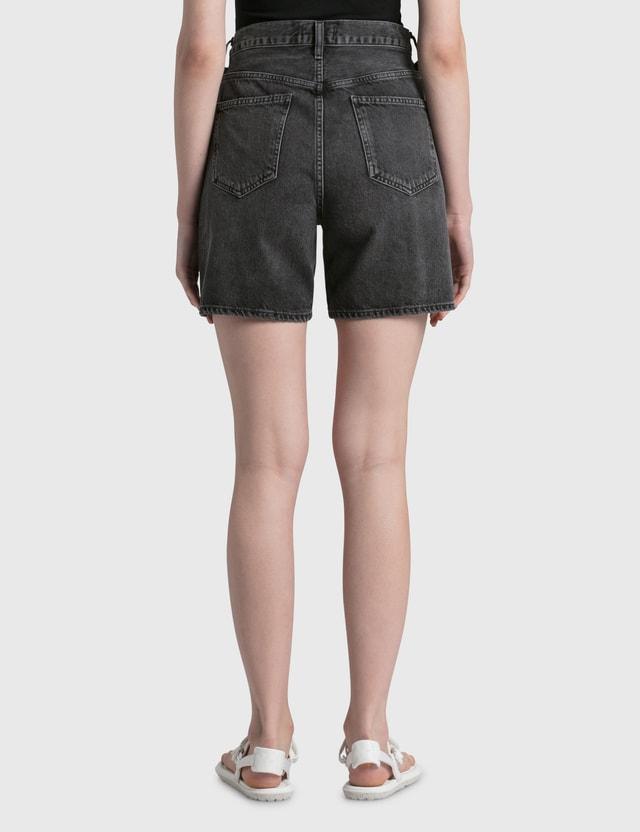 AGOLDE Criss Cross Shorts Black Women
