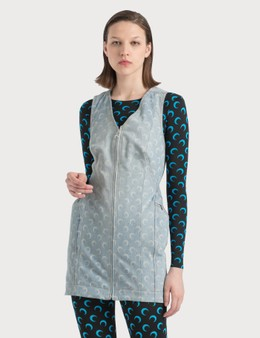 Marine Serre Shaped Denim Dress