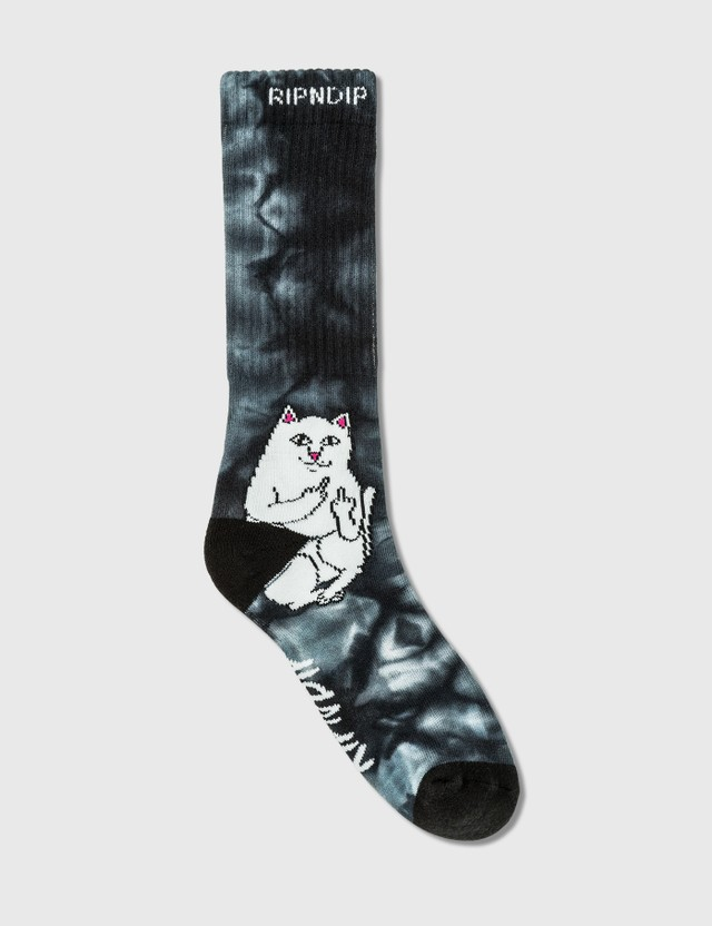 RIPNDIP Lord Nermal 양말 Black Lightning Wash Men
