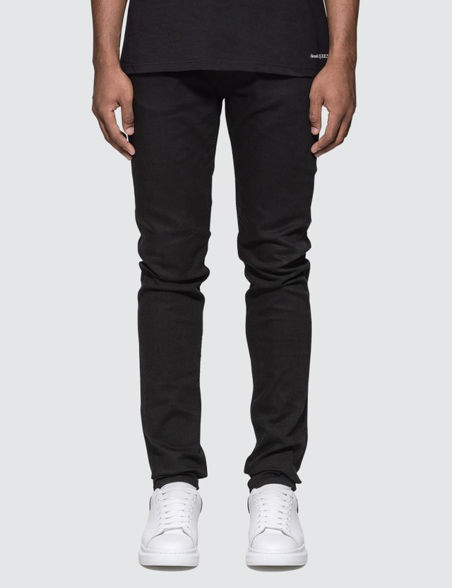 Alexander McQueen Embroidered Pocket Slim Fit Jeans