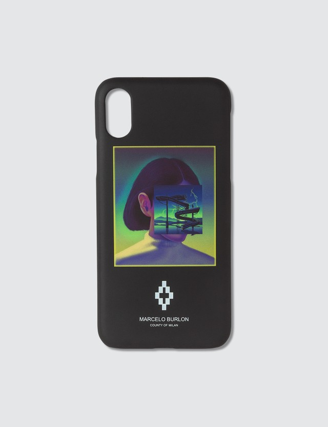 Marcelo Burlon Graphic Print iPhone XS Case