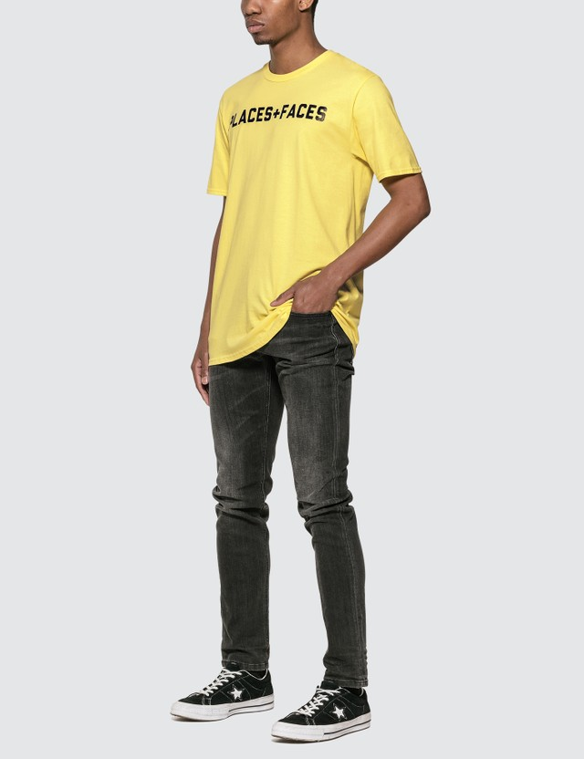 Places + Faces Places + Faces Logo T-Shirt Yellow Men