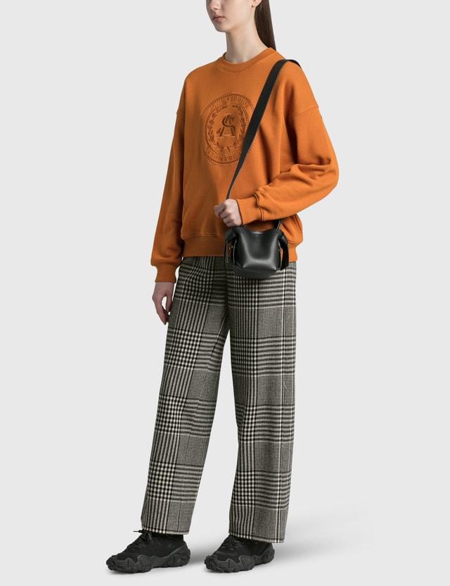 Acne Studios Fiena Embroidered Sweatshirt Cognac Brown Women