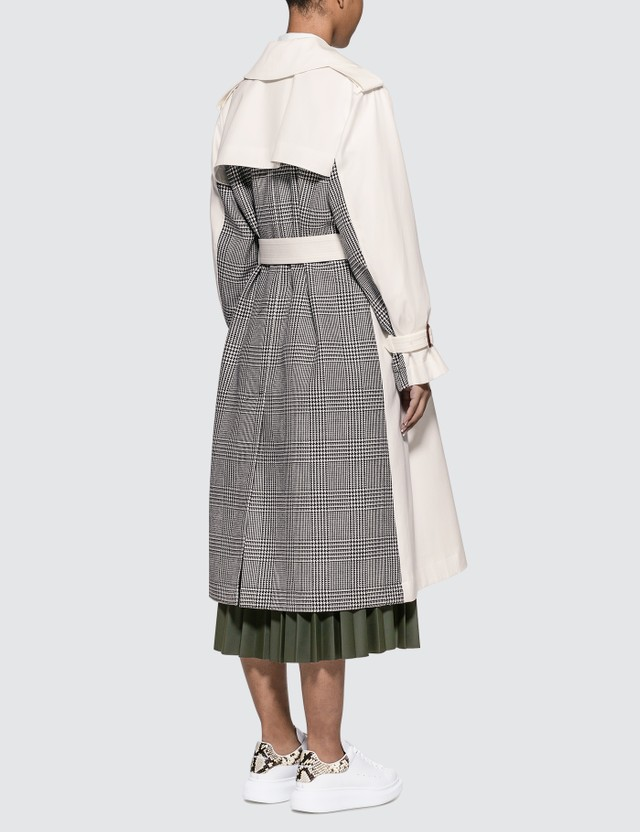 Alexander McQueen Houndstooth-panel Plaid Trench Coat