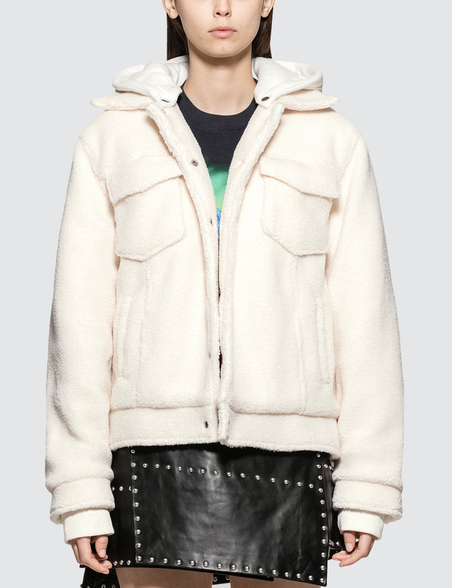 Danielle Guizio Sherpa Jacket With Removeable Hood