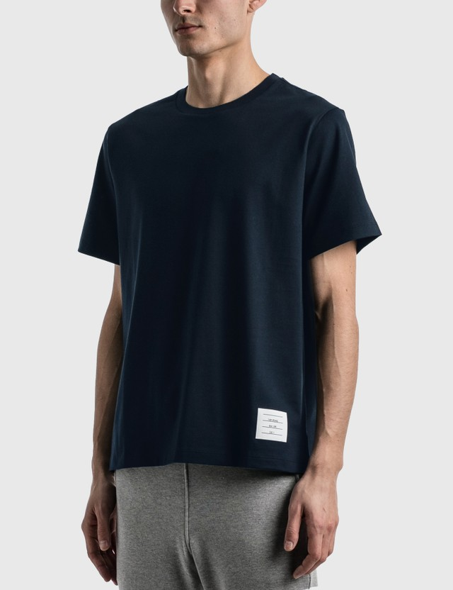 Thom Browne Side Slit Relaxed T-shirt Navy Men