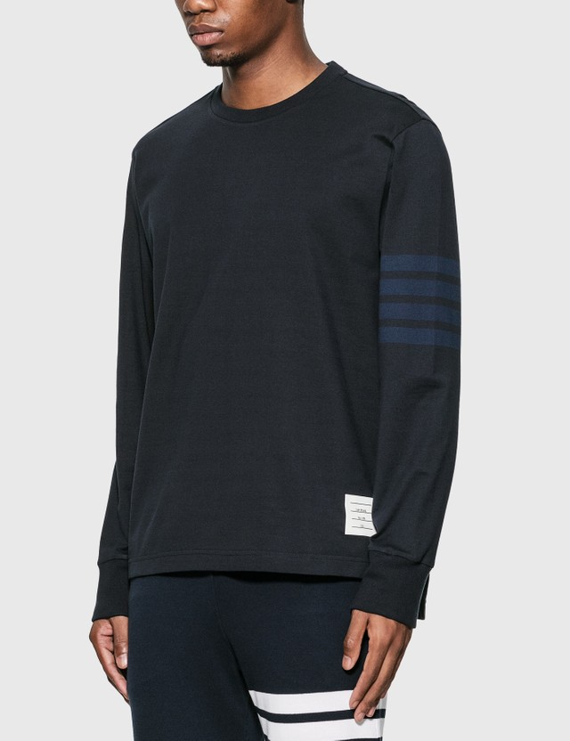 Thom Browne 4-Bar Rugby Long Sleeve T-Shirt