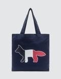 Maison Kitsune Tricolor Fox Tote Bag Picture