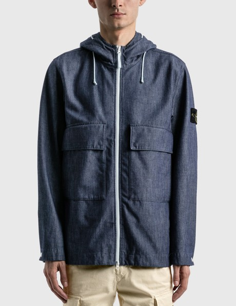 스톤 아일랜드 Stone Island MAC Chambray 3L Hooded Jacket