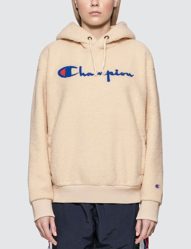 Champion Reverse Weave Fleece Big Script Hoodie