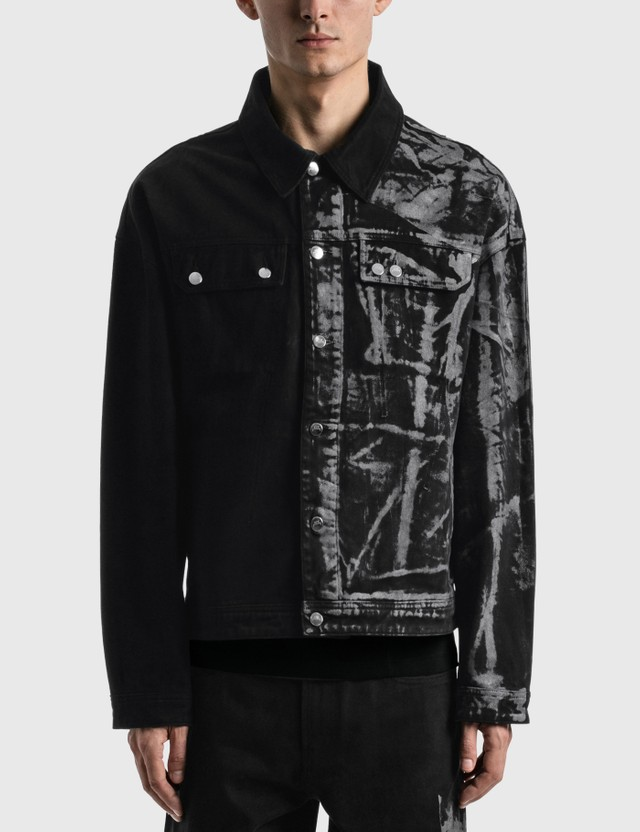 A-COLD-WALL* Pigment Dyed Trucker Jacket Black Men