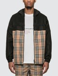 Burberry Check Panel Shape-memory Taffeta Hooded Jacket Picture