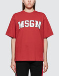 MSGM Msgm Logo College Short Sleeve T-Shirt Picture