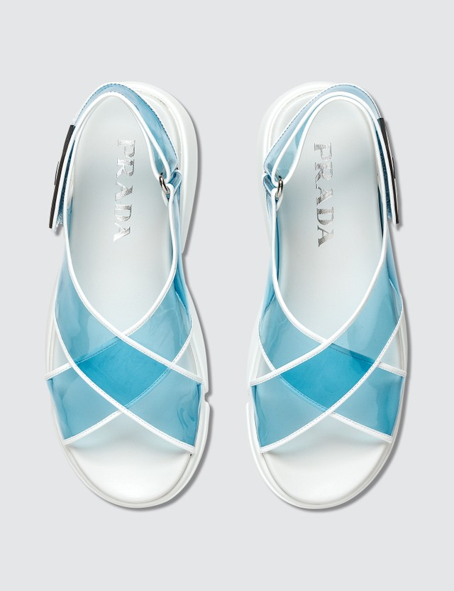 Prada Cloudbust PVC Sandals