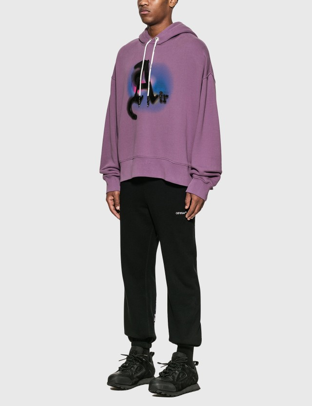 Palm Angels Air Garment Dye Hoodie Purple Men