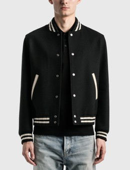 Saint Laurent Teddy Jacket In Wool