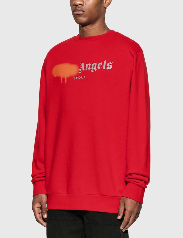 Palm Angels Seoul Sprayed Logo Sweatshirt