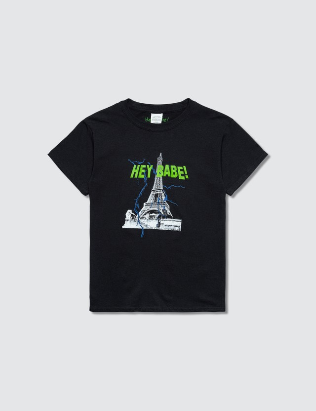 Hey Babe Paris T-Shirt Black Kids