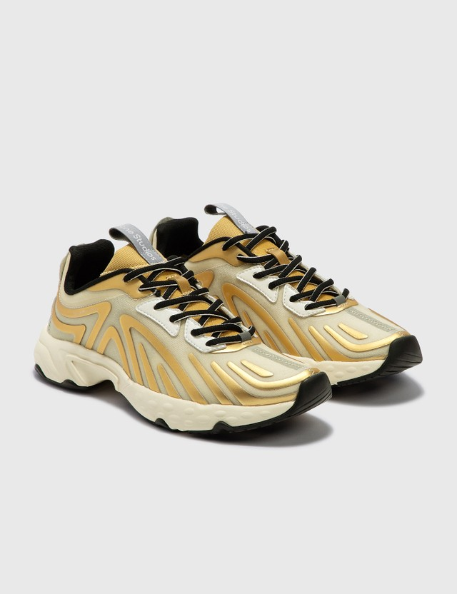 Acne Studios Trail Trainers Off White/gold/beige Women