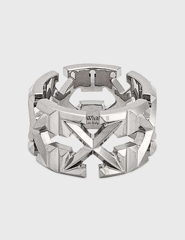 Off-White Multi Arrows Metal Ring N/a Men