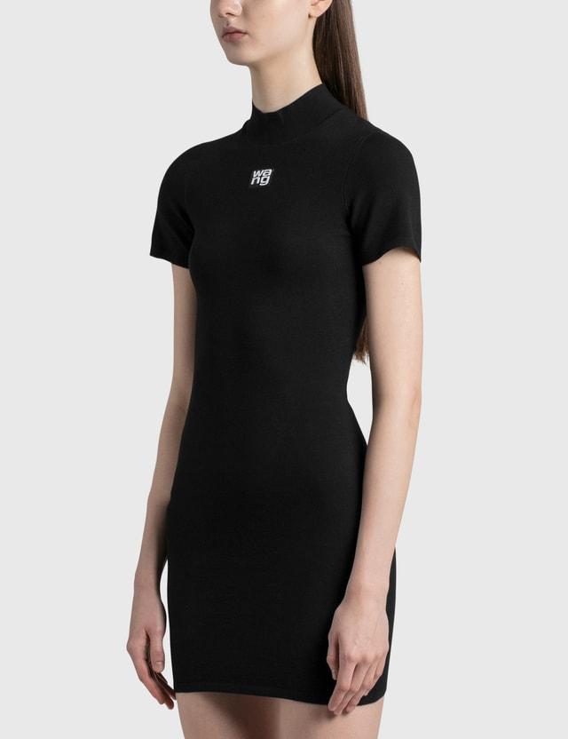 Alexander Wang.T Bodycon Logo Patch Dress Black Women