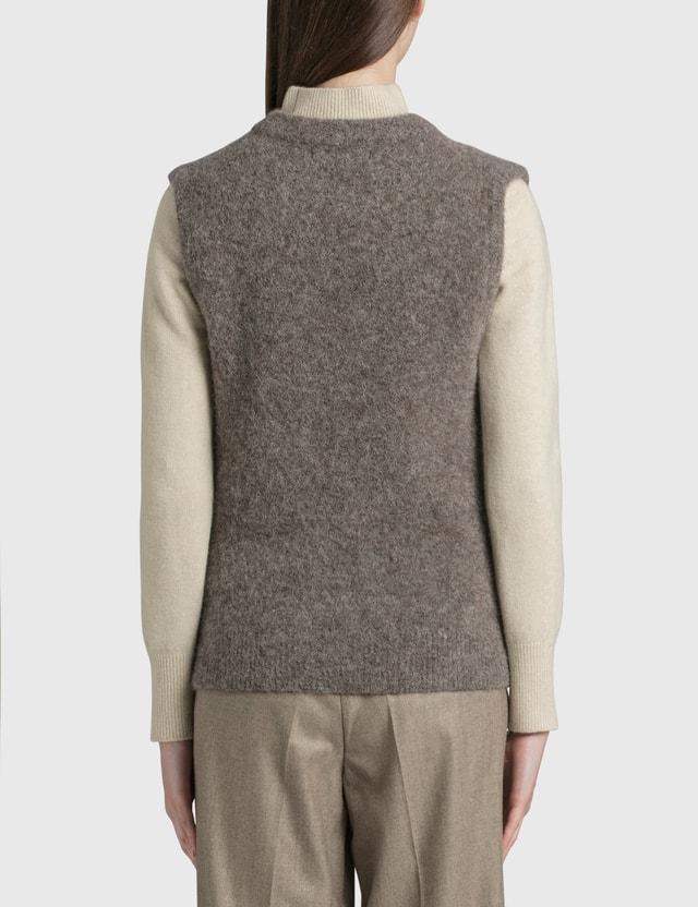 Nothing Written Brushed Alpaca Sweater Vest Grey Women