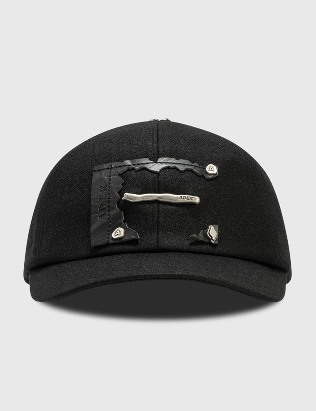 Ader Error Torn Label Cap Black Men