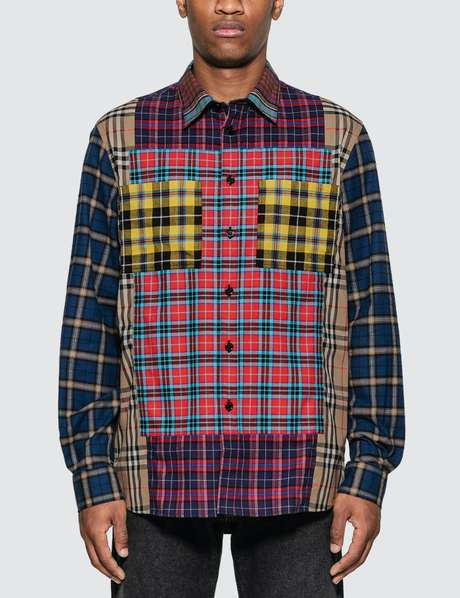 버버리 Burberry Multicolor Check Shirt