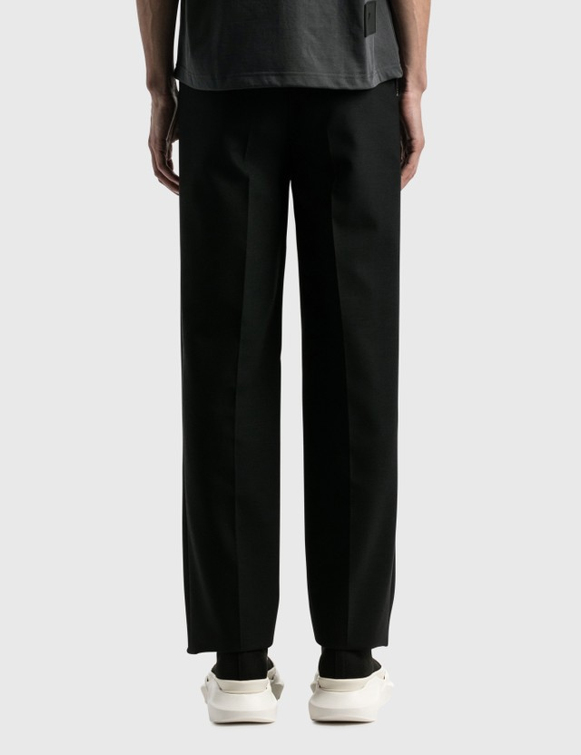 We11done Contrast Top Stitch Tailored Trousers Black Men