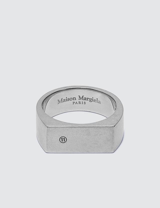 Maison Margiela Logo Silver Ring