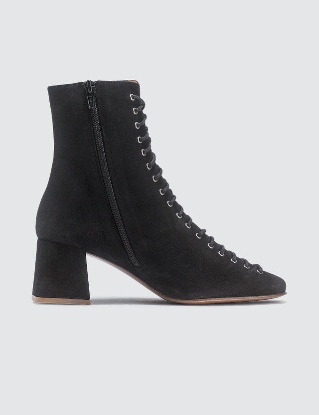 BY FAR Becca Black Suede Boots