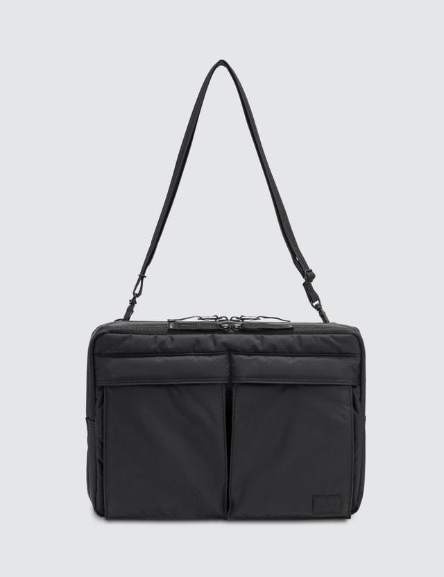 Head Porter Black Beauty Business Document Shoulder Bag 13 inch
