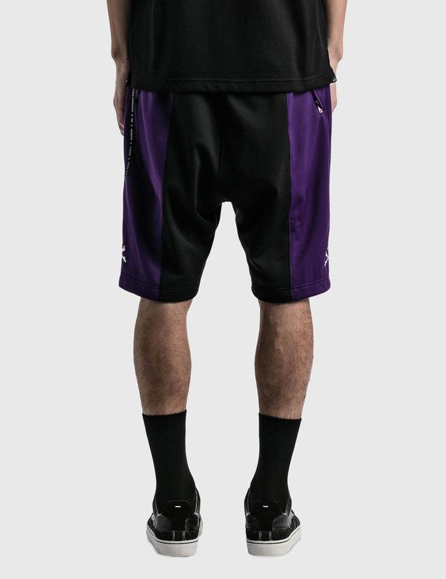 Mastermind World 2 Color Track Shorts Black X Purple Men
