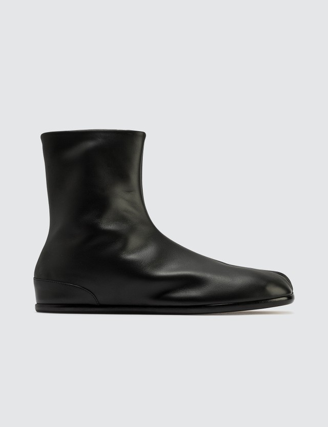 Maison Margiela Tabi Ankle Flat Boots Black Men