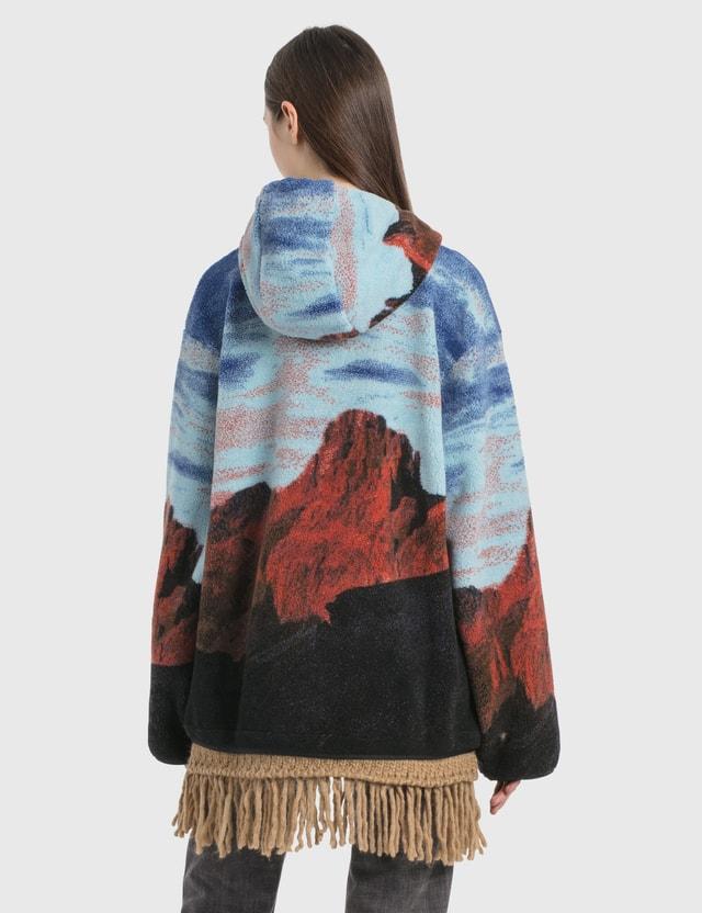 Palm Angels Canyon Pile Jacket Light Blue  Multicol Women