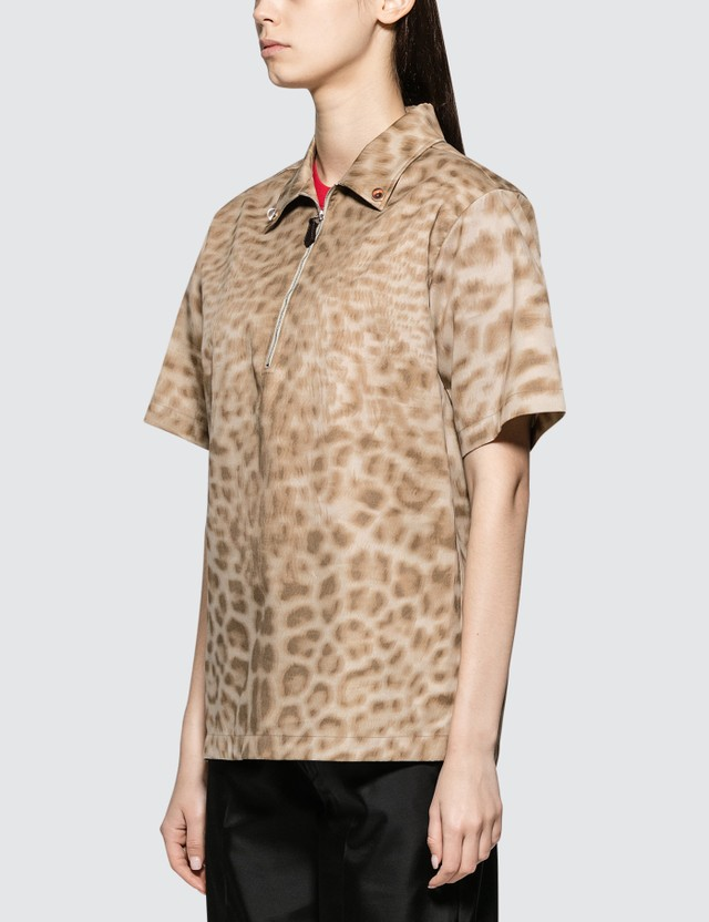 Burberry Lepoard Print Short Sleeve Shirt