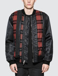 3.1 Phillip Lim Flannel Stripe Paneled MA-1 Bomber Jacket Picture