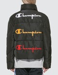 Champion Reverse Weave Back Script Puff Down Jacket Picutre