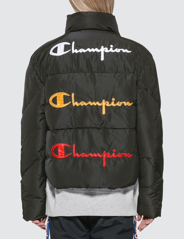 Champion Reverse Weave Back Script Puff Down Jacket