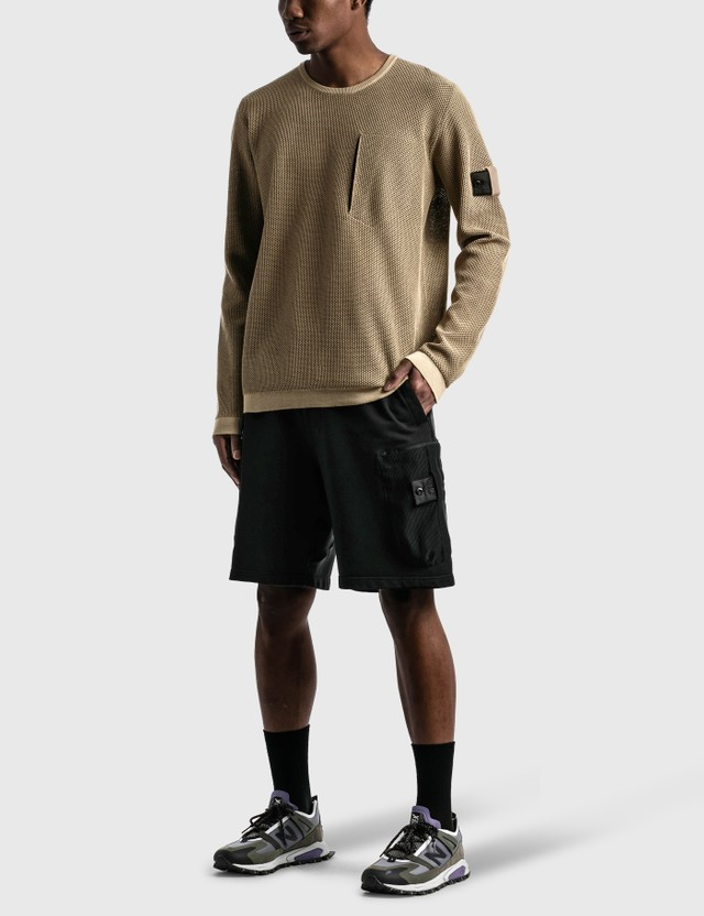Stone Island Shadow Project Light Mesh Knit Crewneck Antique Rose Men