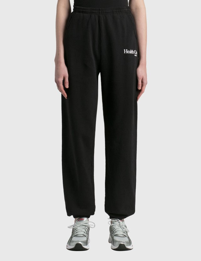 Sporty & Rich Health Club Sweatpants Black/white Women