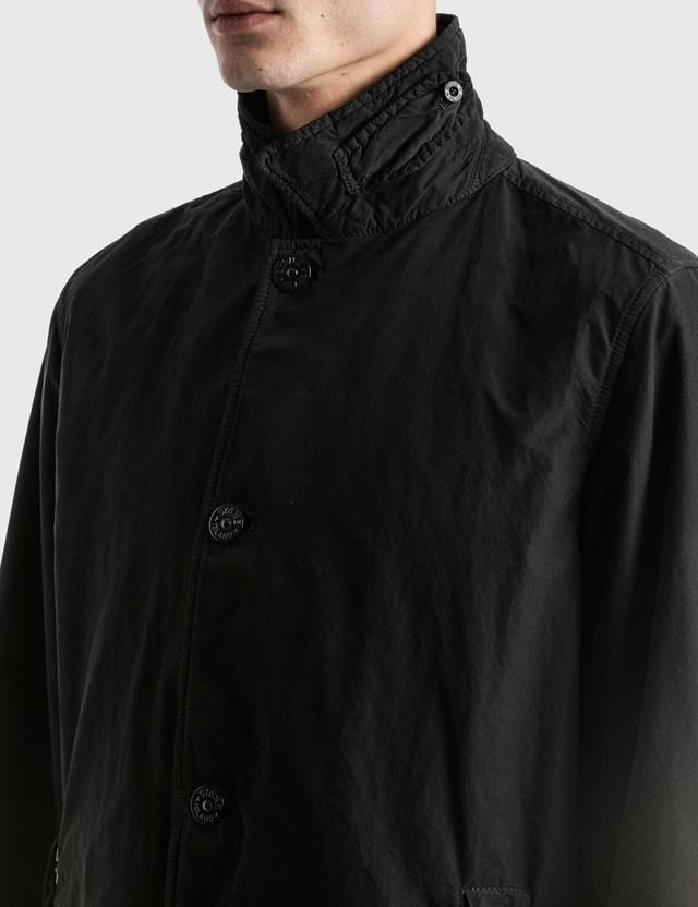 Stone Island Basic Long Jacket Nero Men
