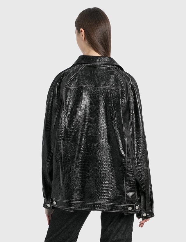 KOCHÉ Embossed Croc Jacket Black Women